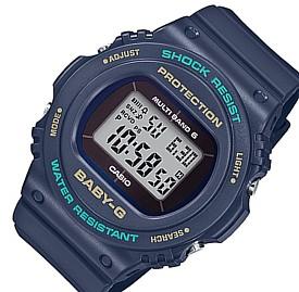 CASIO/Baby-G【カシオ/ベビーG】ソーラー電波腕時計 レディース ネイビー(国内正規品)BGD-5700-2JF