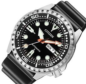 【年間ランキング6年連続受賞】 CITIZEN/Automatic【シチズン/オートマチック】自動巻 メンズ腕時計 ブラック文字盤 ブラックラバーベルト 海外モデル【並行輸入品】NH8380-15E, DVD Direct d6161a00