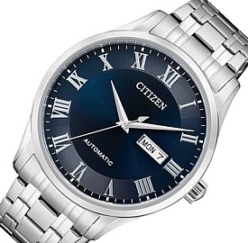 CITIZEN/Automatic【シチズン/オートマチック】自動巻 メンズ腕時計 ネイビー文字盤 メタルベルト 海外モデル【並行輸入品】NH8360-80L