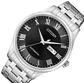 CITIZEN/Automatic【シチズン/オートマチック】自動巻 メンズ腕時計 ブラック文字盤 メタルベルト 海外モデル【並行輸入品】NH8360-80E