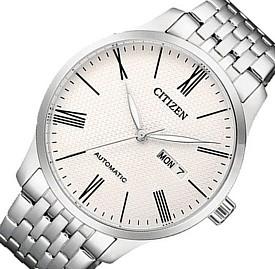CITIZEN/Automatic【シチズン/オートマチック】自動巻 メンズ腕時計 ホワイト文字盤 メタルベルト 海外モデル【並行輸入品】NH8350-59A