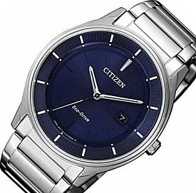 CITIZEN/エコドライブ【シチズン】メンズ ソーラー腕時計 ネイビー文字盤 メタルベルト BM7400-80L 海外モデル【並行輸入品】