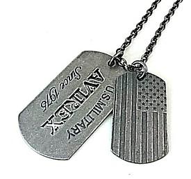AVIREX / アヴィレックス【アクセサリー】アンティークシルバー ダブルプレートタグ ネックレス【送料無料】AVN019S(国内正規品)