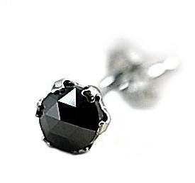 LION HEART/アクセ【ライオンハート】メンズ 片側ピアス 0.25ctブラックダイヤモンド/プラチナ Mサイズ【送料無料】04E12PS/M(国内正規品)
