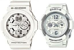 CASIO/G-SHOCK/Baby-G【カシオ/Gショック/ベビーG】ペアウォッチ アナデジモデル 腕時計 ホワイト(国内正規品)GA-150-7AJF/BGA-210-7B4JF