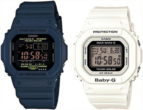 CASIO/G-SHOCK/Baby-G【カシオ/Gショック/ベビーG】ペアウォッチ ソーラー電波腕時計 ネイビー/ホワイト GW-M5610NV-2JF/BGD-5000-7JF(国内正規品)