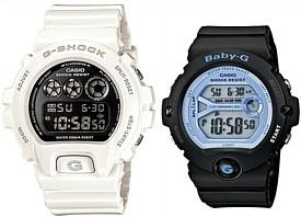 CASIO/G-SHOCK/Baby-G【カシオ/Gショック/ベビーG】ペアウォッチ 腕時計 ホワイト/ブラック 海外モデル【並行輸入品】DW-6900NB-7/BG-6903-1