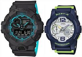 CASIO/G-SHOCK/Baby-G【カシオ/Gショック/ベビーG】ペアウォッチ アナデジ 腕時計 グレー/ネイビー(国内正規品)GA-700SE-1A2JF/BGA-180-2BJF