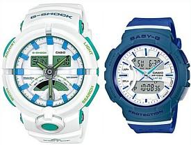 CASIO/G-SHOCK/Baby-G【カシオ/Gショック/ベビーG】ペアウォッチ アナデジ 腕時計 ホワイト/ネイビー(国内正規品)GA-500WG-7AJF/BGA-240-2A2JF