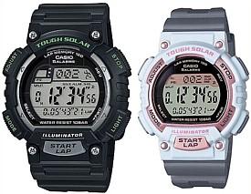 CASIO/SPORTS GEAR【カシオ/スポーツギア】ペアウォッチ ソラー腕時計 ラバーベルト ブラック/グレー(国内正規品)STL-S100H-1AJF/STL-S300H-4AJF