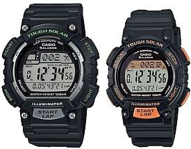 CASIO/SPORTS GEAR【カシオ/スポーツギア】ペアウォッチ ソラー腕時計 ラバーベルト ブラック(国内正規品)STL-S100H-1AJF/STL-S300H-1BJF