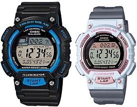 CASIO/SPORTS GEAR【カシオ/スポーツギア】ペアウォッチ ソラー腕時計 ラバーベルト ブラック/グレー(国内正規品)STL-S100H-2AJF/STL-S300H-4AJF