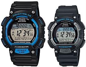 CASIO/SPORTS GEAR【カシオ/スポーツギア】ペアウォッチ ソラー腕時計 ラバーベルト ブラック(国内正規品)STL-S100H-2AJF/STL-S300H-1AJF