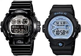 CASIO/G-SHOCK/Baby-G【カシオ/Gショック/ベビーG】ペアウォッチ 腕時計 ブラック DW-6900NB-1/BG-6903-1 海外モデル【並行輸入品】