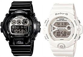 CASIO/G-SHOCK/Baby-G【カシオ/Gショック/ベビーG】ペアウォッチ 腕時計 ブラック/ホワイト DW-6900NB-1/BG-6903-7B 海外モデル【並行輸入品】