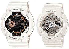 CASIO/G-SHOCK/Baby-G【カシオ/Gショック/ベビーG】ペアウォッチ アナデジ 腕時計 ホワイト 海外モデル【並行輸入品】 GA-110RG-7A/BA-110-7A3