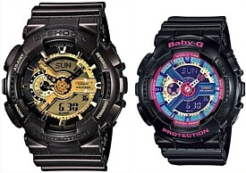 CASIO/G-SHOCK/Baby-G【カシオ/Gショック/ベビーG】ペアウォッチ アナデジ 腕時計 ブラウン/ブラック 海外モデル【並行輸入品】 GA-110BR-5A/BA-112-1A