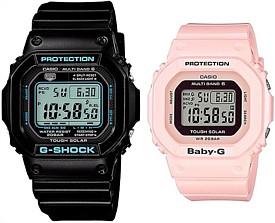CASIO/G-SHOCK/Baby-G【カシオ/Gショック/ベビーG】ペアウォッチ ソーラー電波腕時計 ブラック/ライトピンク(国内正規品)GW-M5610BA-1JF/BGD-5000-4BJF