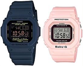 CASIO/G-SHOCK/Baby-G【カシオ/Gショック/ベビーG】ペアウォッチ ソーラー電波腕時計 ネイビー/ライトピンク GW-M5610NV-2JF/BGD-5000-4BJF(国内正規品)