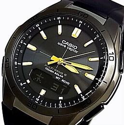 CASIO/Wave Ceptor【カシオ/ウェーブセプター】メンズ腕時計 ソーラー電波腕時計 ブラックケース ブラック文字盤 ラバーベルト(国内正規品)WVA-M640B-1A2JF