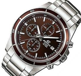 CASIO/EDIFICE【カシオ/エディフィス】クロノグラフ メンズ腕時計 ブラウン文字盤 メタルベルト 海外モデル【並行輸入品】 EFR-526D-5AVU