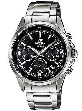 CASIO/EDIFICE【カシオ/エディフィス】クロノグラフ メンズ腕時計 ブラック文字盤 メタルベルト 海外モデル【並行輸入品】 EFR-527D-1AVU