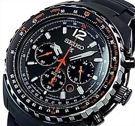 SEIKO/PROSPEX【セイコー/プロスペックス】メンズ クロノグラフ ソーラー腕時計 ブラック文字盤 ブラックメタルベルト 海外モデル【並行輸入品】 SSC263P1
