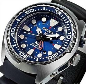 SEIKO/PROSPEX/200m diver's watch【セイコー/プロスペックス/200m防水ダイバーズ】キネテック GMT メンズ腕時計 ネイビー文字盤 ブラックラバーベルト SUN065P1 海外モデル【並行輸入品】