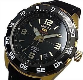 SEIKO/SEIKO5 Sports【セイコー5スポーツ/ファイブスポーツ】自動巻 メンズ腕時計 ブラックキャンバスベルト ブラック文字盤 MADE IN JAPAN 海外モデル【並行輸入品】SRPB86J1