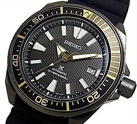 SEIKO/PROSPEX/200m diver's watch【セイコー/プロスペックス/200m防水ダイバーズ】サムライ 自動巻 メンズ腕時計 ブラックケース ブラックラバーベルト ブラック文字盤 MADE IN JAPAN 海外モデル【並行輸入品】SRPB55J1