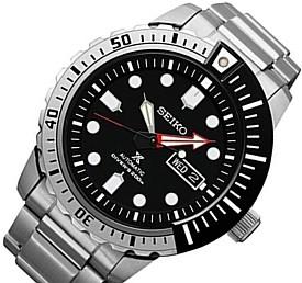 SEIKO/PROSPEX 200m diver's watch【セイコー/プロスペックス200m防水ダイバーズ】自動巻 メンズ腕時計 メタルベルト ブラック文字盤 海外モデル【並行輸入品】 SRP587K1