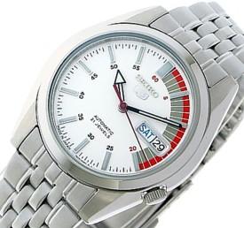 SEIKO/SEIKO5【セイコー5/セイコーファイブ】自動巻 メンズ腕時計 メタルベルト ホワイト文字盤 SNK369J1 MADE IN JAPAN 海外モデル【並行輸入品】