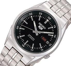 SEIKO/SEIKO5【セイコー5/セイコーファイブ】自動巻 メンズ腕時計 メタルベルト ブラック文字盤 MADE IN JAPAN セイコーファイブ SNK567J1 海外モデル【並行輸入品】