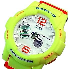 CASIO/BABY-G/G-LIDE【カシオ/ベビーG/Gライド】レディース腕時計 イエロー 海外モデル【並行輸入品】BGA-180-9B