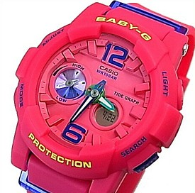 CASIO/BABY-G/G-LIDE【カシオ/ベビーG/Gライド】レディース腕時計 ピンク 海外モデル【並行輸入品】BGA-180-4B3