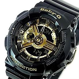 CASIO/Baby-G【カシオ/ベビーG】レディース腕時計 ブラック/ゴールド 海外モデル【並行輸入品】 BA-110-1A