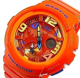 CASIO/Baby-G【カシオ/ベビーG】ビーチ・トラベラー・シリーズ レディース腕時計 オレンジ(国内正規品)BGA-190-4BJF