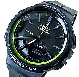 CASIO/Baby-G【カシオ/ベビーG】ステップトラッカー 歩数カウント機能搭載 レディース腕時計 ブラック(国内正規品)BGS-100-1AJF