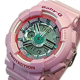 CASIO/Baby-G【カシオ/ベビーG】BA110シリーズ レディース腕時計 ライトピンク(国内正規品)BA-110CA-4AJF