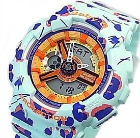 CASIO/Baby-G【カシオ/ベビーG】Flower Leopard Series/フラワーレオパードシリーズ レディース腕時計 ライトグリーン 海外モデル【並行輸入品】 BA-110FL-3A