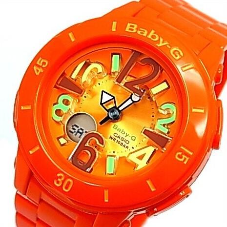 CASIO/Baby-G【カシオ/ベビーG】ネオンマリンシリーズ レディース腕時計 オレンジ(国内正規品)BGA-171-4B2JF