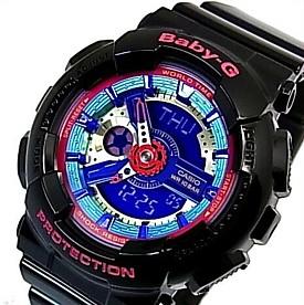 CASIO/Baby-G【カシオ/ベビーG】レディース腕時計 ブラック 海外モデル【並行輸入品】 BA-112-1A