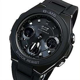 CASIO/Baby-G【カシオ/ベビーG】G-MS/ジーミズ ソーラー電波腕時計 レディース ブラックラバーベルト(国内正規品)MSG-W100G-1AJF
