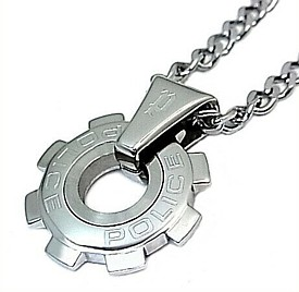 POLICE/accessory【ポリスアクセ】REACTOR 歯車モチーフトップ ステンレス ネックレス【送料無料】24232PSS01(国内正規品)