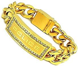 POLICE/accessory【ポリスアクセ】LOWRIGER プレート&チェーン ステンレスブレスレット【送料無料】PJ25143BSG01(国内正規品)