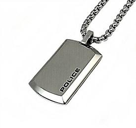 POLICE/accessory【ポリスアクセ】PURITY ミニプレートタグトップ ステンレス ネックレス【送料無料】25988PSS01(国内正規品)