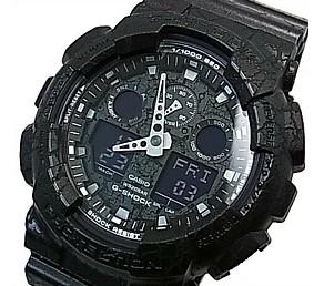 CASIO/G-SHOCK【カシオ/Gショック】Cracked Pattern/クラックド・パターン アナデジモデル メンズ腕時計 ブラック(国内正規品)GA-100CG-1AJF