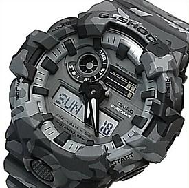 CASIO/G-SHOCK【カシオ/Gショック】アナデジ メンズ腕時計 グレーカモフラージュ 海外モデル【並行輸入品】GA-700CM-8A
