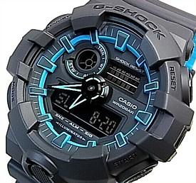 CASIO/G-SHOCK【カシオ/Gショック】アナデジモデル メンズ腕時計 グレー/ブルー(国内正規品)GA-700SE-1A2JF