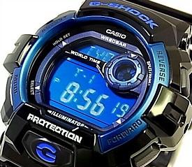 【訳あり外箱擦れ汚れ有】CASIO/G-SHOCK【カシオ/Gショック】NEWスタンダードモデル メンズ腕時計 ブラック/ブルー G-8900A-1 海外モデル【並行輸入品】